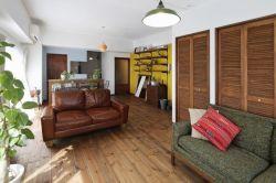 112平米簡約客廳實木地板裝修圖一覽