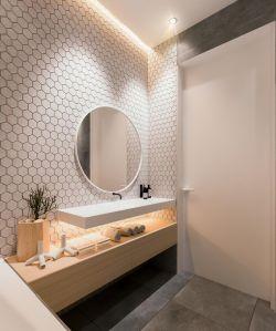 溫馨新房衛生間洗手臺鏡子裝修效果圖
