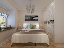 現代風格94平二居室臥室飄窗家裝效果圖