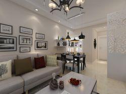 現代風格94平二居室客廳沙發墻家裝效果圖