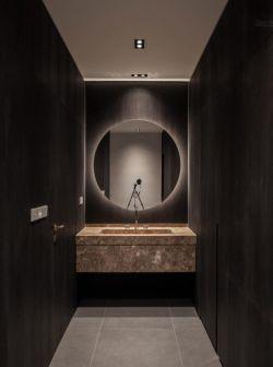 2018衛生間室內洗手臺鏡子裝飾裝修實景圖片