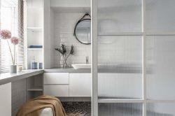 現代北歐風格118平三居衛浴間裝修效果圖