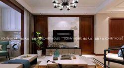 新中式風格135㎡三居客廳電視柜裝修效果圖
