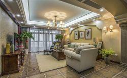 美式復古風格客廳燈具裝修裝潢圖片