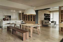 港式風格餐廳實木地板設計圖