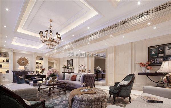 贵阳梦想典城100平米简欧风格三居室装修效果图图片