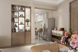 120平現代簡約風格三居室餐廳玄關家裝效果圖