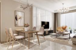 120平現代簡約風格三居室餐廳客廳家裝效果圖