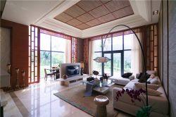 東南亞風格103平三居室客廳沙發設計圖片