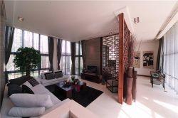 東南亞風格103平三居室客廳電視墻設計圖片