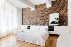 北歐風格73平米三居室臥室床頭背景墻設計圖片