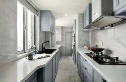 輕奢風格110平米三居室廚房灶臺設計圖片