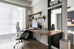 現代簡約風格書房辦公書桌設計裝修圖