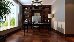 180平美式風格書房裝潢設計效果圖