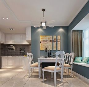90平方家庭餐厅飘窗装饰设计图-每日推荐