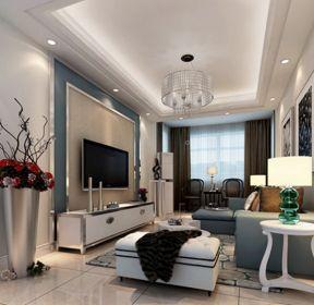 90平方家庭客厅软装设计效果图大全-每日推荐
