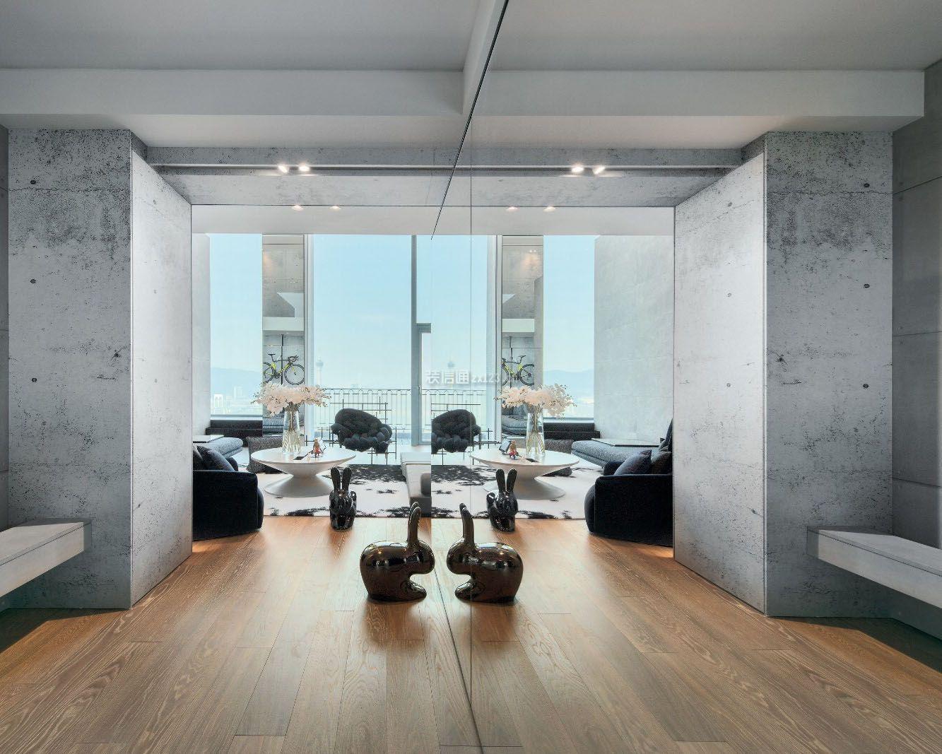 高层大户型室内木地板设计装修效果图大全