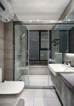 110平現代簡約風格三居衛生間設計效果圖片