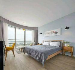 178平米簡約北歐四居室臥室落地窗裝修圖片