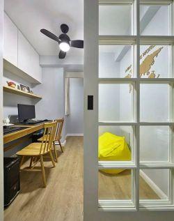 178平米簡約北歐四居室書房電腦桌裝修圖片