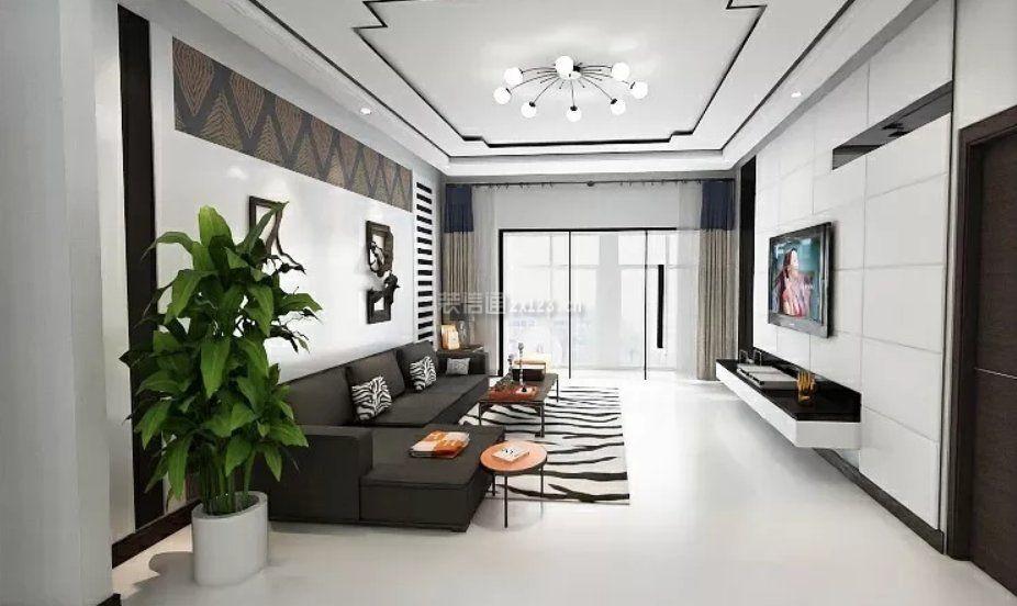 90平米三房两厅装修效果图奶块萌新房屋设计图片