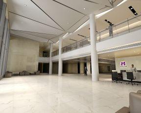 现代风格2800平米办公室大厅背景墙装修效果图