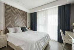 140平米現代簡約風格三居臥室窗簾搭配設計圖片