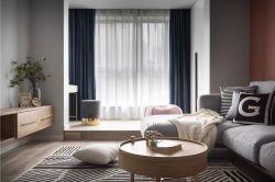 100平米簡約北歐風格三房客廳茶幾裝飾圖片