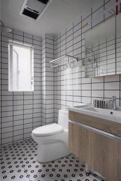 100平米簡約北歐風格三房衛浴間裝飾圖片