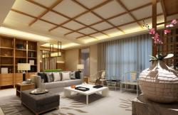中式簡約130平米四居客廳茶幾搭配裝修效果圖
