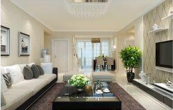 現代風格128平客廳沙發擺放裝飾圖片