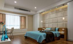 現代簡約風格115平米臥室軟包床頭設計圖