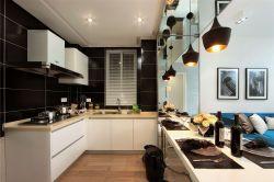 126平米現代簡約廚房白色櫥柜裝修效果圖