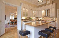 時尚歐式風格廚房吧臺裝飾設計圖