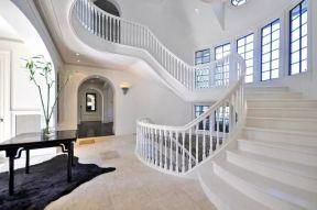 2018白色樓梯裝修效果圖 2018別墅白色樓梯裝修效果圖