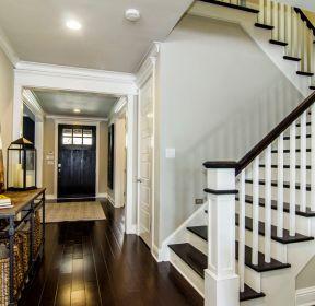 奢华别墅实木楼梯柜装修效果图 2840 独栋奢华别墅外观装修图片大全