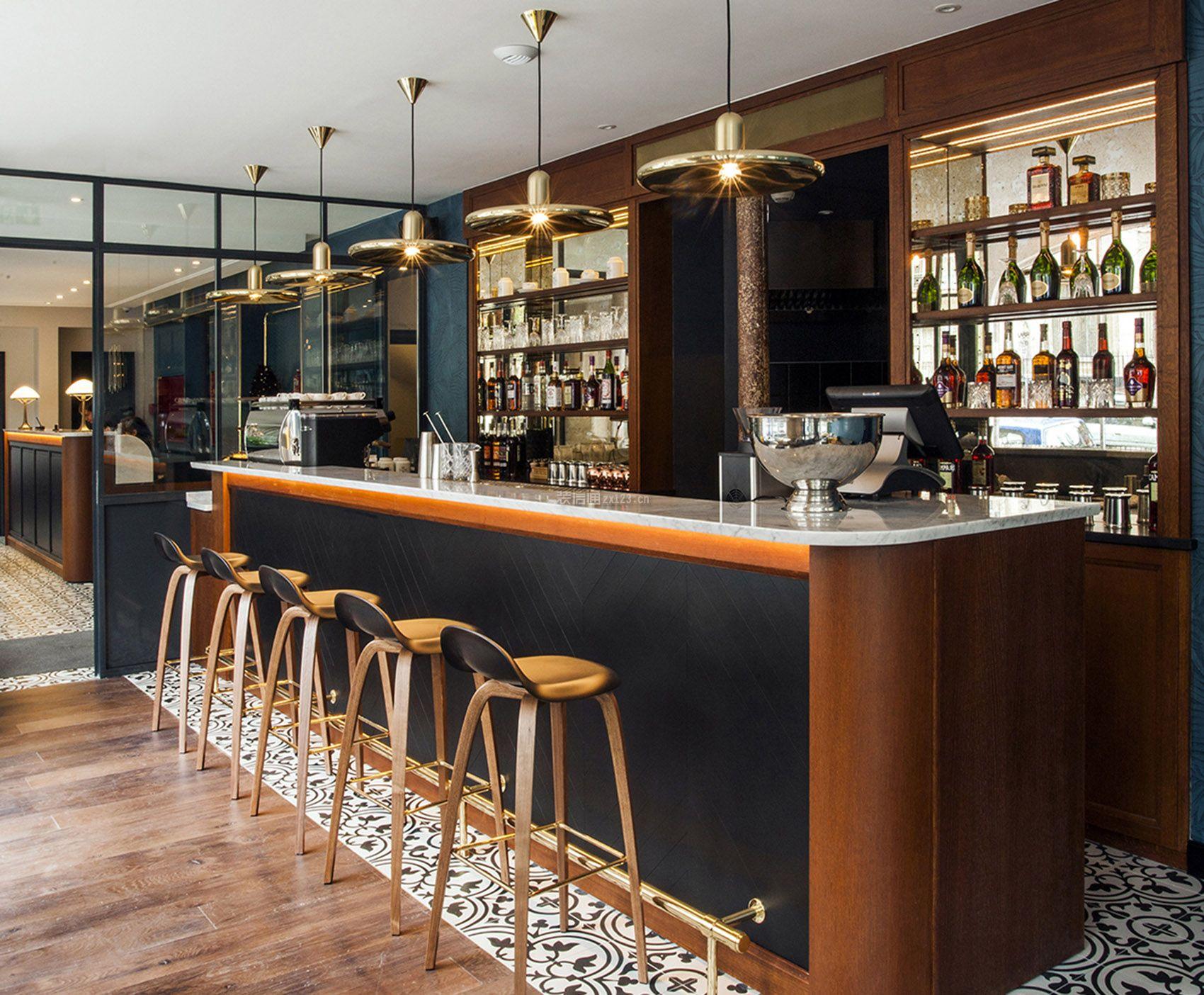 现代风格1700平米酒店吧台酒柜设计图片_装修123效果图