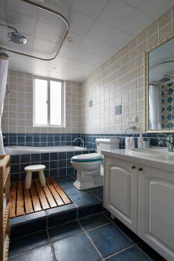 110平米現代北歐風格三房衛生間背景墻設計圖片