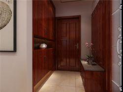 中式風格新房進門鞋柜裝修擺放圖片