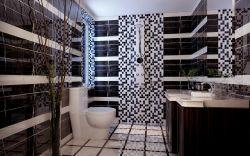 現代風格新房衛生間背景墻設計效果圖片