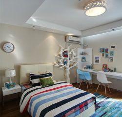 99平樣板房臥室單人床裝修裝飾圖片