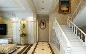 室內別墅樓梯設計 歐式風格別墅樓梯效果圖