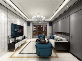 145平方米现代四居室客厅吊顶装修效果图