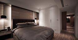 140平米簡約風格四居室臥室白色衣柜設計圖片