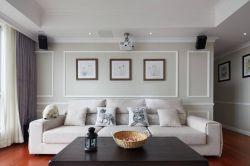 美式風格新房客廳背景墻設計效果圖
