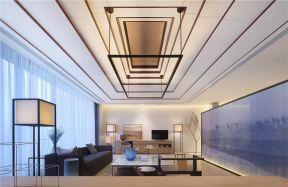 2018新中式客廳吊頂設計效果圖 新中式客廳吊頂效果圖大全