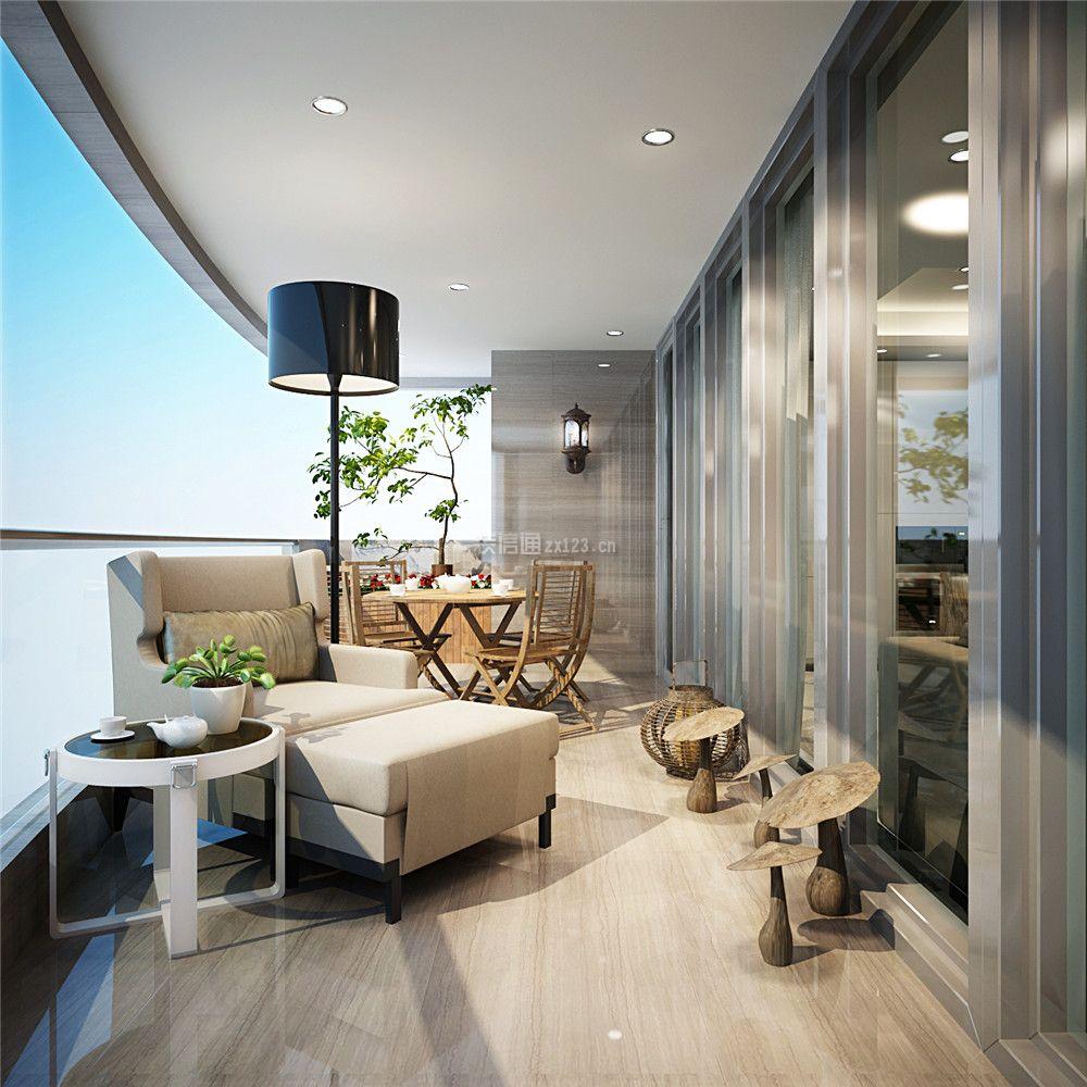 阳台休闲区背景设计效果图3d模型【id:41481】