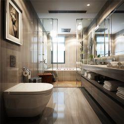 現代簡約風格家庭衛生間馬桶裝修設計圖