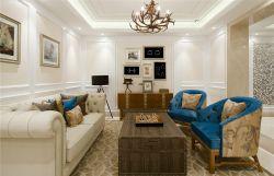 歐式風格新房房屋客廳背景墻裝修設計圖片