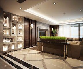 客廳博古架隔斷效果圖 現代博古架隔斷 客廳壁燈裝修圖片